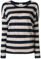 Closed striped round neck jumper