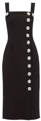 Dolce & Gabbana Crystal-embellished Buttoned Dress - Womens - Black