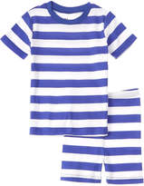 New Jammies Boys' Classic Stripe Blue And White Pajama Short Set