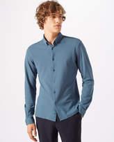Jigsaw Jersey Piqué Button Down Shirt