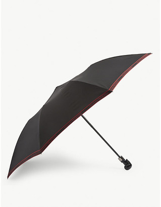 Alexander McQueen Selvedge skull folding umbrella
