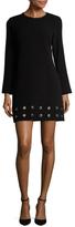 Shoshanna Eyelet Hem Mini Dress