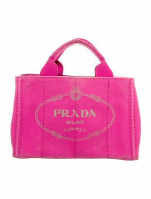 Prada Small Canapa Logo Tote gold