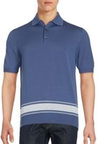 Brioni Colorblock Wool & Silk Blend Polo