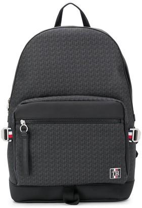 Tommy Hilfiger All Over Logo Print Backpack