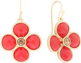 Liz Claiborne Flower Drop Coral & Gold-Tone Earrings