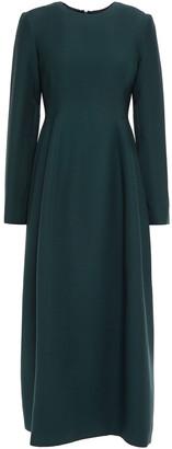 The Row Lorna Pleated Wool And Silk-blend Midi Dress