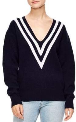 Sandro Platine Oversized V-Neck Sweater
