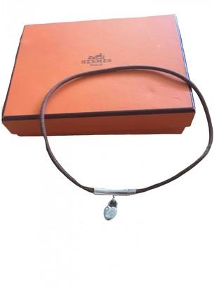 Hermã ̈S HermAs Cadenas Camel Leather Necklaces