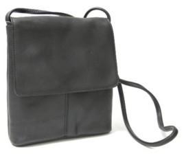 Royce New York Royce Flap Over Crossbody Bag in Colombian Genuine Leather