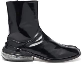Maison Margiela Tabi Bounce Split Toe Leather Boots - Mens - Black