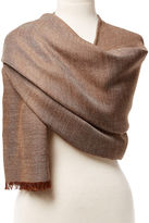 Alicia Adams Alpaca Alpaca St. Tropez Wrap, Gray/Chocolate
