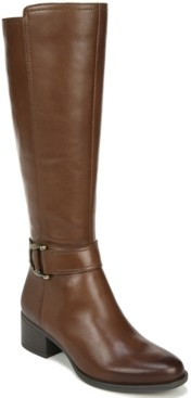 Naturalizer Kelso Leather Wide Calf High Shaft Boots Women's Shoes