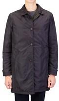 Prada Men's Gabardine Nylon Waterproof Reversible Trench Coat Jacket Black Olive.