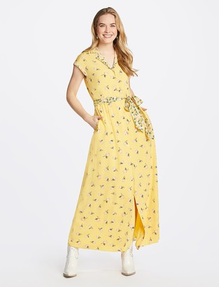 Draper James Floral Maxi Shirtdress
