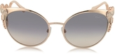 Roberto Cavalli Menkalinan 890S 28F Goldtone Metal Cat Eye Women's Sunglasses w/Crystals
