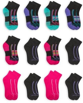 Fruit of the Loom Girls Ankle Socks 12-Pack, Sizes S-L