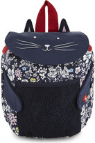 Joules Cat and flower print backpack