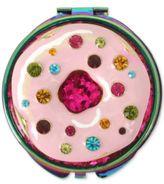 Betsey Johnson Oilslick-Tone Multi-Stone Donut Compact Mirror