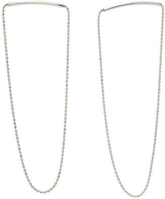 Saskia Diez Silver Melting Chain Earrings