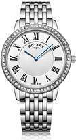 Rotary Women's Quartz Watch with Silver Dial Analogue Display and Silver Stainless Steel Bracelet LB00358/21