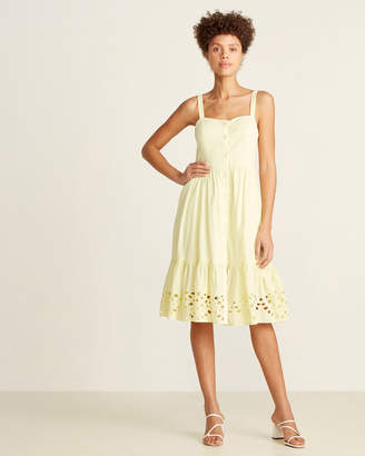 French Connection Super Lemon Ancolie Brodeire Sundress
