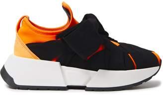 MM6 MAISON MARGIELA Ribbon Bow-detailed Neon Neoprene Slip-on Sneakers