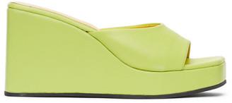 Simon Miller Yellow Level Wedge Sandals