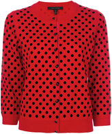 Marc Jacobs polka dot cardigan - women - Nylon/Wool - M