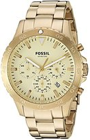 Fossil Men's Quartz Stainless Steel Casual Watch, Color:Gold-Toned (Model: CH3061)