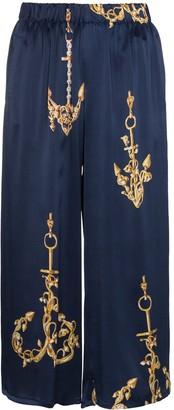 Natasha Zinko Silk Nautical Track Pants