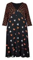 Dorothy Perkins Womens **Dp Curve Ditsy Print Empire Jersey Midi Dress