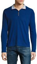 Robert Graham Stand Collar Raglan Zip Sweater