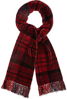 Barneys New York MEN'S PLAID CHENILLE SCARF