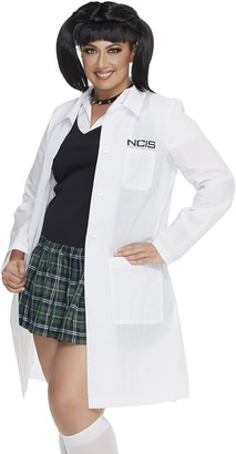 Mystery House Women's Plus-Size NCIS Abby's Lab Coat and Chocker