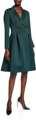 Badgley Mischka Double-Breasted Scuba Dress