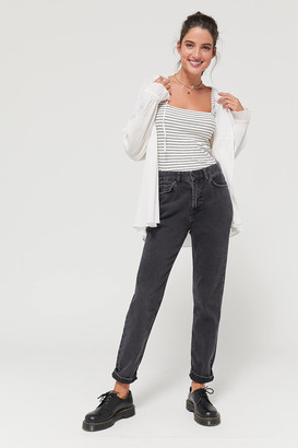 BDG High-Waisted Mom Jean Washed Black Denim