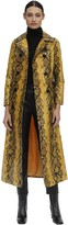 Stand Sasha Printed Faux Leather Trench Coat