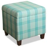 HomePop Anderson Storage Cube Ottoman in Robin's Egg Blue