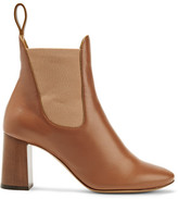 Chloé Leather Ankle Boots - Brown