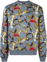 Versace belt print sweatshirt