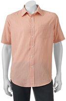 Croft & Barrow Big & Tall Classic-Fit Plaid Easy-Care Microfiber Button-Down Shirt