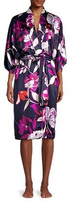 Natori Odessa Floral Tie-Waist Robe