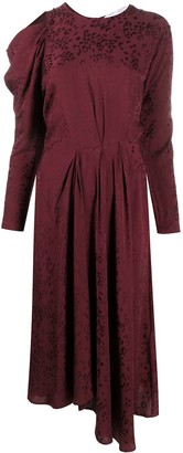 IRO Draped Velvet Midi Dress