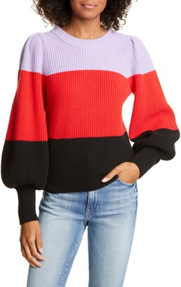 A.L.C. Sammy Balloon Sleeve Wool & Cashmere Blend Sweater