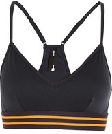 The Upside Andie Stretch-jersey And Mesh Sports Bra - Midnight blue