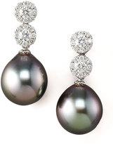Assael International Diamond & Pearl Drop Earrings