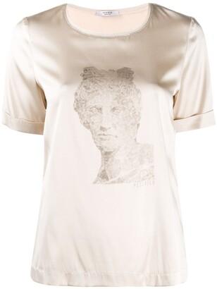 Peserico statue print silk T-shirt