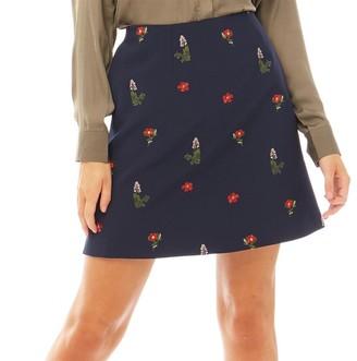 Ted Baker Womens Dafnie Kirstenbosch Ditsy Mini Skirt Navy