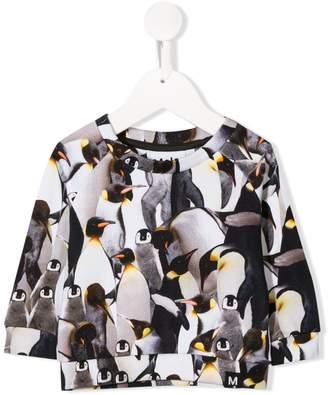 Molo Kids Penguins Galore sweatshirt